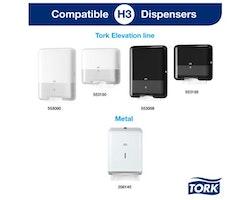 Handduk TORK Adv H3 2-lag vit 3750/FP