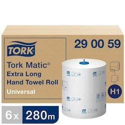 Handduk TORK Uni H1 1-lag vit 280m