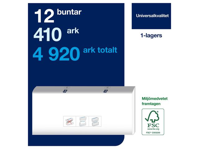 Handduk TORK Uni H5 Peak 1-lag 4920/FP
