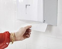 Dispenser KATRIN Handbox M vit metall