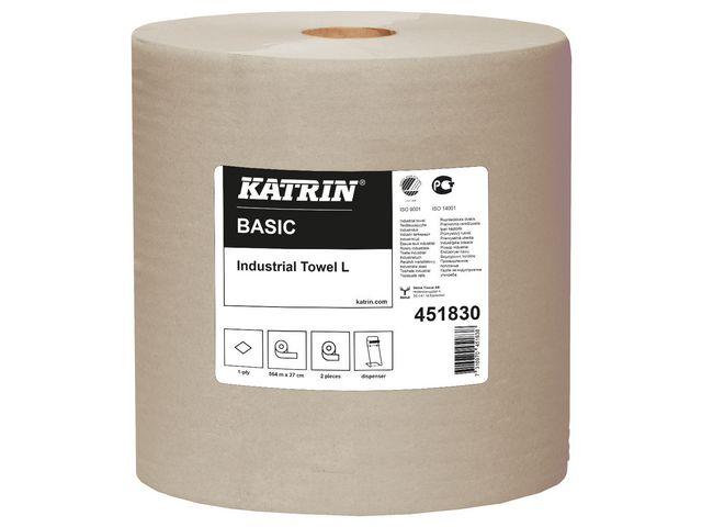 Industritork KATRIN Basic L grå 564m 2/FP