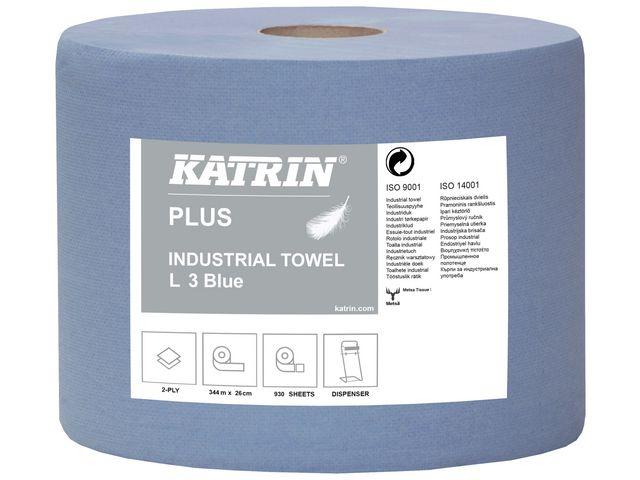 Industritork KATRIN Plus L blå 350m