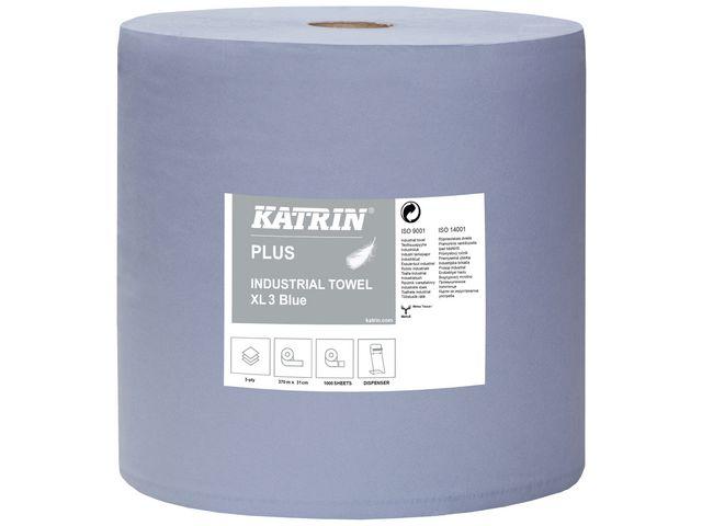 Industritork KATRIN Plus XL blå 370m