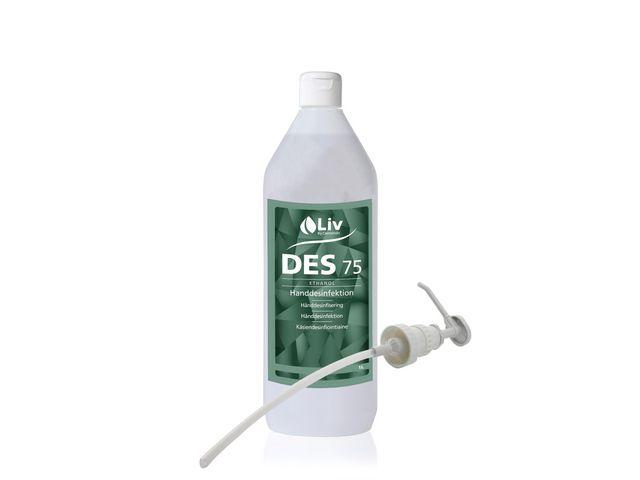 Handdesinfektion LIV Des75 med pump 1L 12/FP