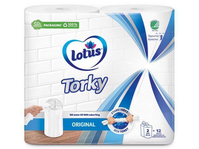 Torkrulle Lotus Torky 1-L vit 12/FP