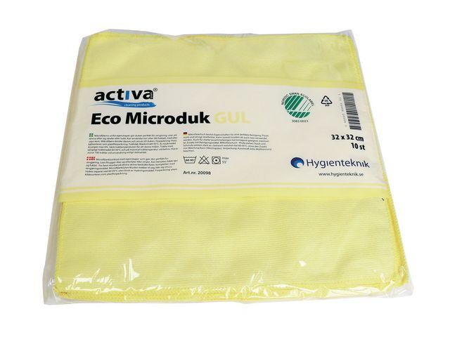 Microfiberduk ACTIVA ECO gul