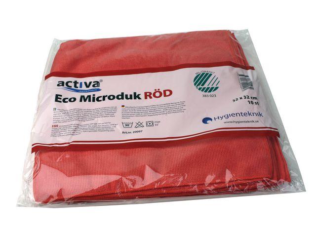 Microfiberduk ACTIVA ECO röd