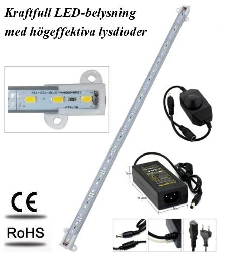 Akvariebelysning - Paket med 1 st LED-list 120 cm