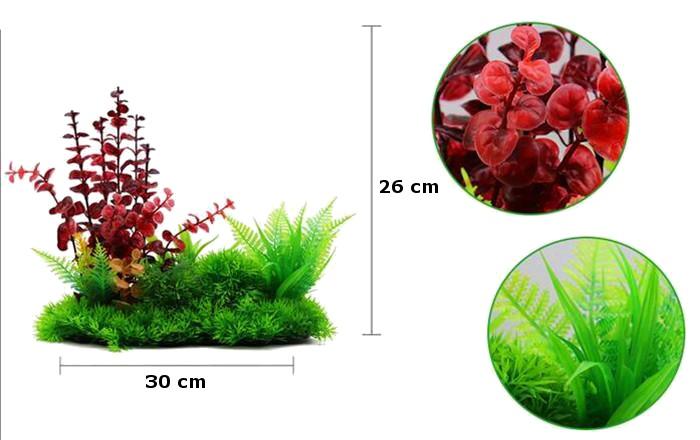 Plastväxt Lush Red 26 cm A