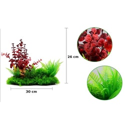 Plastväxt Lush Red 26 cm