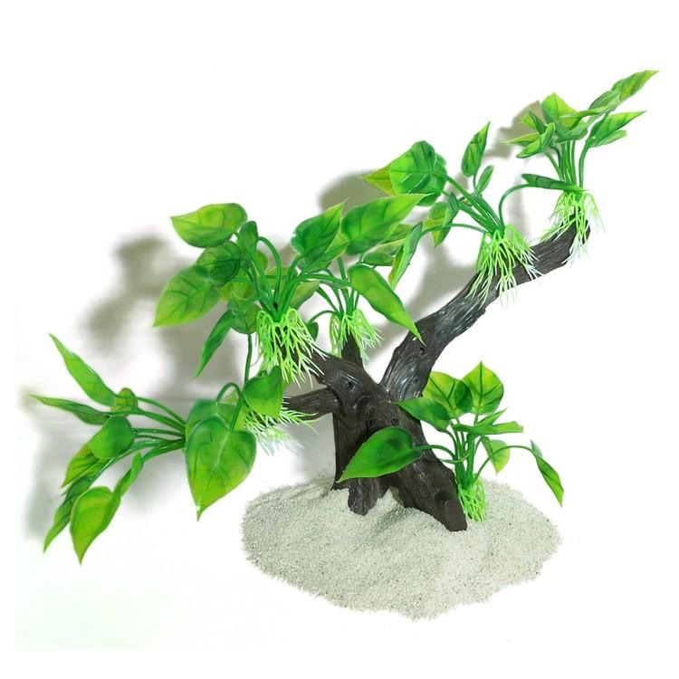 Plastväxt på rot Anubias 25 cm