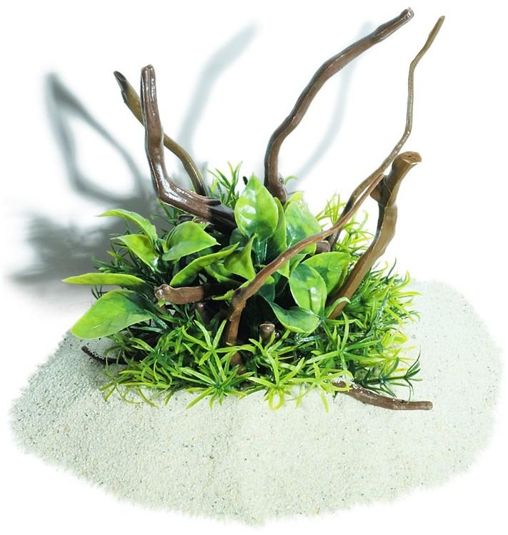 Plastväxt på rot Anubias petite 19 cm