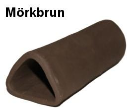 Malgrotta med stängd ände - Trekantig - Mörkbrun