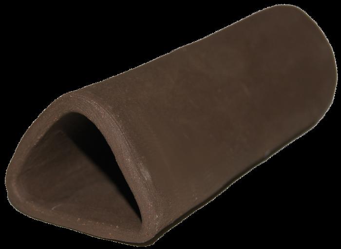 Malgrotta med stängd ände - Trekantig - Mörkbrun A