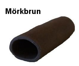 Malgrotta med stängd ände 12 - 13 cm - Mörkbrun - 1 st.