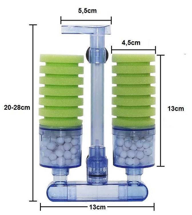 Svampfilter med biologisk filtermedia A