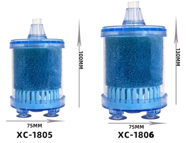 Box filter med filtersvamp och pimpsten - liten B