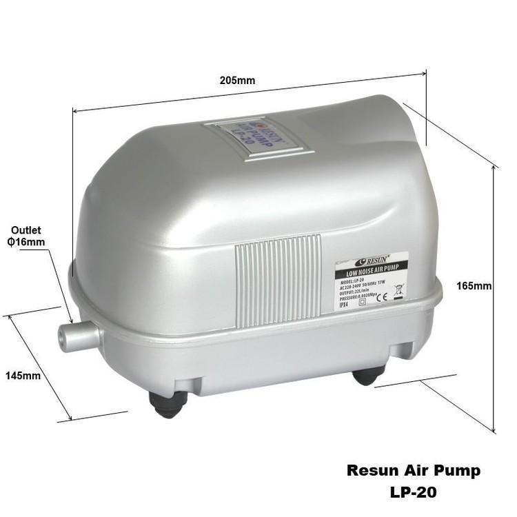 LP 20 - Luftpump från Resun 1500 l/t A