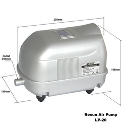 LP 20 - Luftpump från Resun 1500 l/t