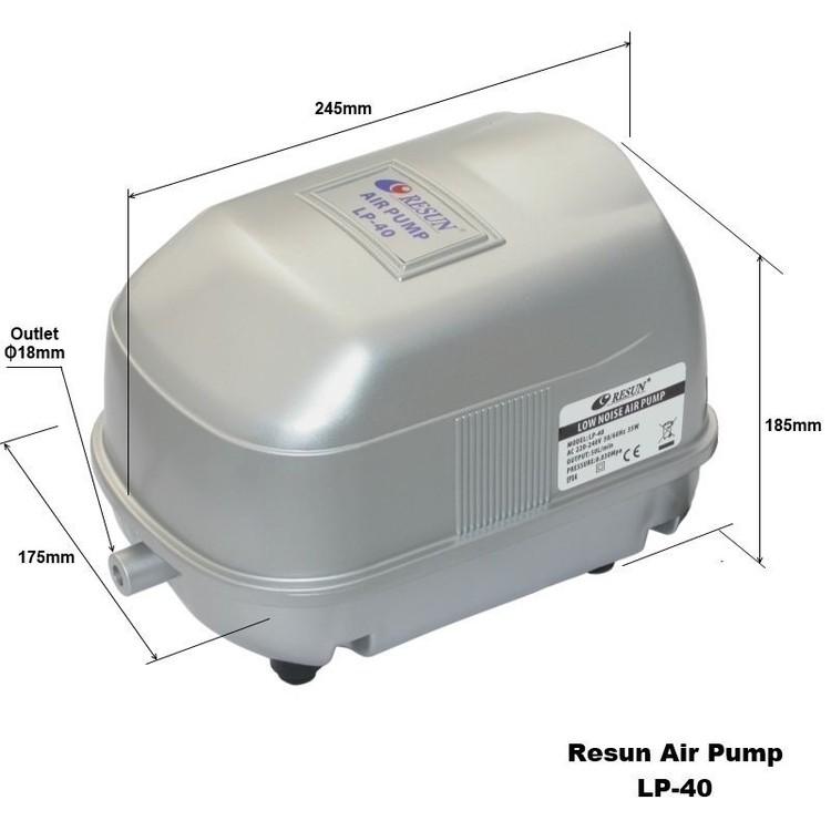LP 40 - Luftpump från Resun 3000 l/t A