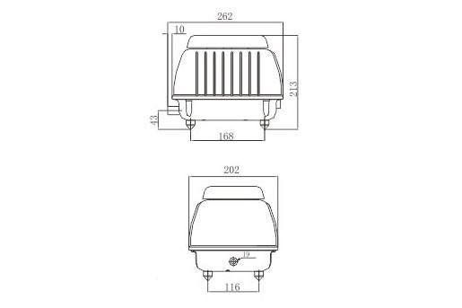 LP 60 - Luftpump från Resun 4200 l/t C
