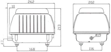 LP 60 - Luftpump från Resun 4200 l/t D