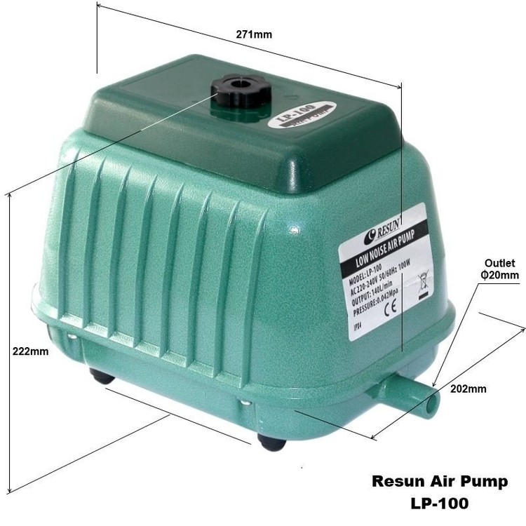 LP 100 - Luftpump från Resun 8400 l/t A