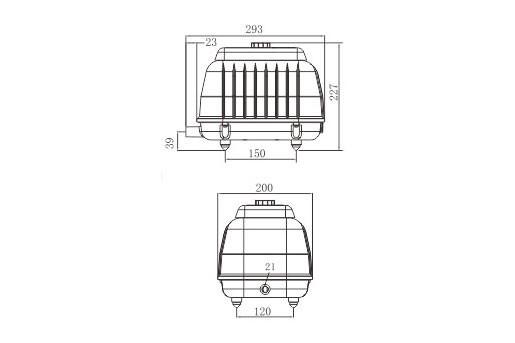 LP 100 - Luftpump från Resun 8400 l/t C