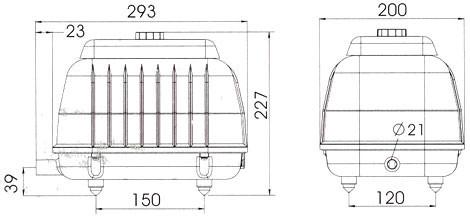 LP 100 - Luftpump från Resun 8400 l/t D
