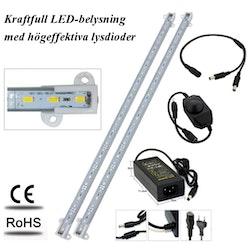 Akvariebelysning - Paket med 2 st LED-list 92 cm