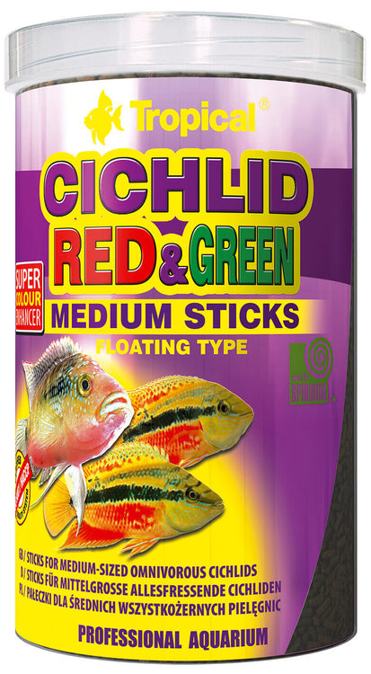Cichlid Red & Green Medium Sticks 1000 ml