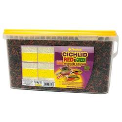 Cichlid Red & Green Medium Sticks 5 liter