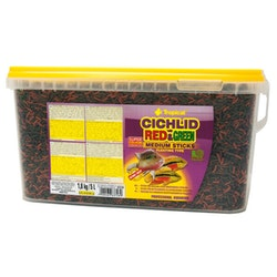 Cichlid Red & Green Medium Sticks 10 liter