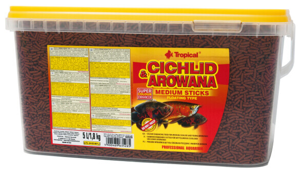 Cichlid & Arowana Sticks - Medium 10 liter