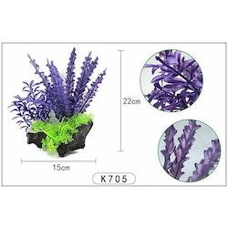 Plastväxt på rot Cryptocoryne blå / lila 21 cm