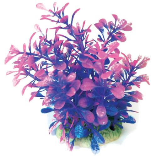 Plastväxt Bacopa blå / rosa detaljer 13 cm