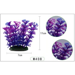Plastväxt Cabomba blå / lila detaljer 10 cm
