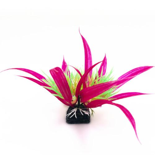 Plastväxt Helanthium lila / gröna detaljer 10 cm