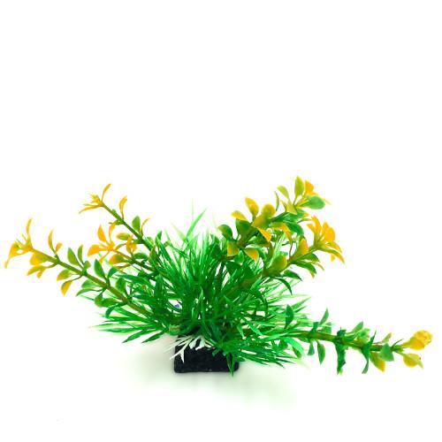 Plastväxt Bacopa grön/ gula detaljer 9 cm