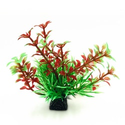 Plastväxt Bacopa röd / gröna detaljer 9 cm