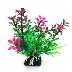 Plastväxt Bacopa lila / gröna detaljer 9 cm
