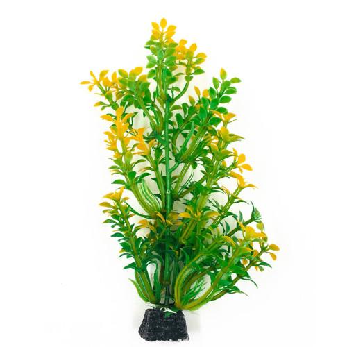 Plastväxt Bacopa grön / gula detaljer 18 cm