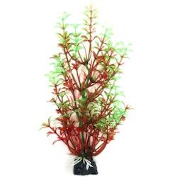Plastväxt Bacopa röd / gröna detaljer 18 cm