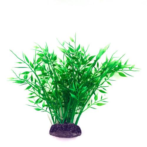 Plastväxt Bambu grön 22 cm