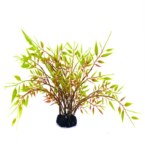 Plastväxt Bambu med gröna detaljer 22 cm A