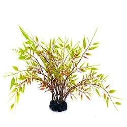 Plastväxt Bambu med gröna detaljer 22 cm