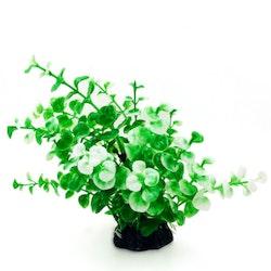 Plastväxt Limnobium grön / vita detaljer 19 cm