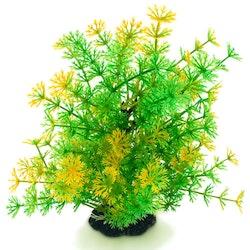 Plastväxt Hottonia grön med gul topp 19 cm