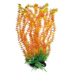 Plastväxt Cabomba orange med grön topp 43 cm