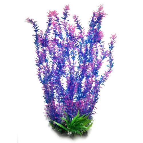 Plastväxt Rotala bonsai blå/lila med rosa detaljer 55 cm